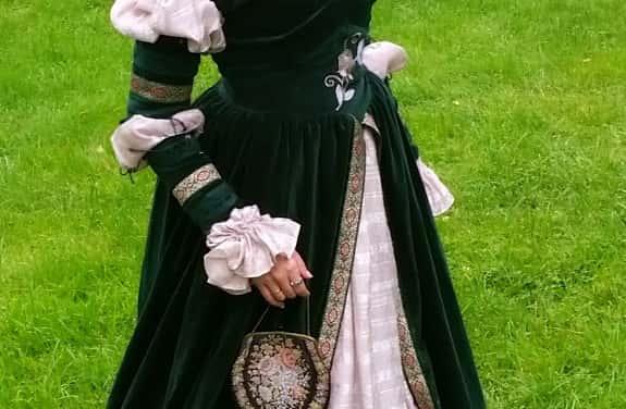 Renaissance-Kleid grüner Samt